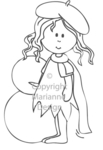Sf1102 Clear stamp Betty Winter