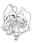 Hm9434 Clear stamp Kerstman