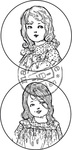 Cs0850 Clear stamp Girls