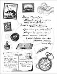 Cs0858 Clear stamp Reizen