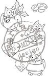 Ec0141 Clearstamp Eline's X-mas owls
