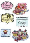 Ews2206 Clear stamp Tea and cupcakes