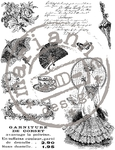 Cs0864 Clear stamp Victorian ladies 2