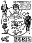 Cs0865 Clear stamp Victorian men
