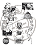 Cs0870 Clear stamp Fabulous Fifties - Ki