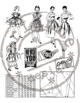 Cs0871 Clear stamp Fabulous Fifties - Fa