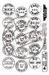 Cs0879 Clear stamp Mail around the world
