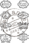 Cs0872 Clear stamp Vintage kerstwensen -