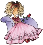 Hm9464 Clear stamp - Princess
