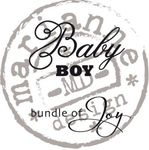 Cs0889 Clear stamp Baby boy