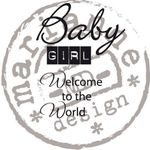 Cs0890 Clear stamp Baby girl