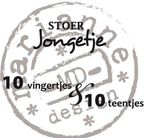 Cs0891 Clear stamp Stoer jongetje