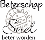 Cs0894 Clear stamp Beterschap - NL