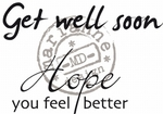 Cs0895 Clear stamp Get well soon - UK