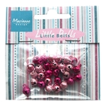 Ju0939 Mini bells - light pink & dark pi