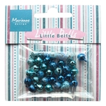 Ju0940 Mini bells - light blue & dark bl