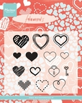 Cs0950 Clear stamp Hearts set