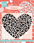 Cs0951 Clear stamp Heart XL