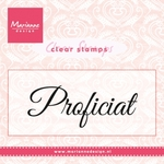 Cs0957 Clear stamp Proficiat
