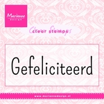 Cs0960 Clear stamp Gefeliciteerd