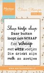 Cs0961 Clear stamp Liedje: Slaap kindje