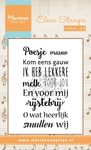 Cs0962 Clear stamp Liedje: Poesje mauw