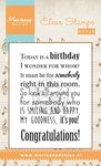 Cs0965 Clear stamp Song: Today is a birt