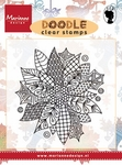 Ews2222 Clear stamp Doodle Poinsettia