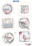 Mm1602 Knipvel Pastel birds
