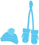Lr0440 Creatable:Knitted hat and mittens