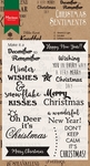 Cs0980 Clear stamp Christmas sentiments
