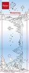 Ht1610 Clear stamp Border Winter trees