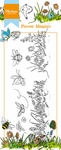 Ht1613 Clearstamp border Flower meadow
