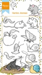 Ht1614 Clearstamp Hetty's garden animals
