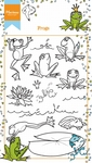 Ht1617 Clear stamp - Hetty's frogs