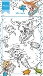 Ht1619 Clear stamp Hetty's Mermaid
