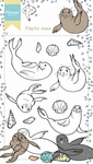 Ht1621 Clear stamp Hetty's Playful Seals