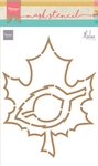 Ps8014 Craft stencil: Autumn leaves by M