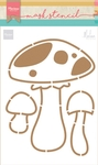 Ps8015 Craft stencil: Mushrooms by Marle