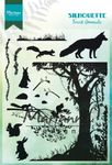 Cs1021 Silhouette Forest Animals