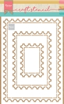 Ps8034 Craft stencil Post card
