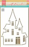 PS8075 Craft stencil - Haunted House