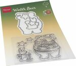 Ht1659 Clear stamp - Hetty's Winter bear