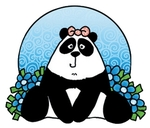 Co9608 Corrie's Clear stamp panda
